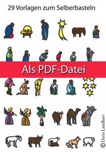 Fensterkrippe zum selbst gestalten als PDF Datei (53 Vorlagen)