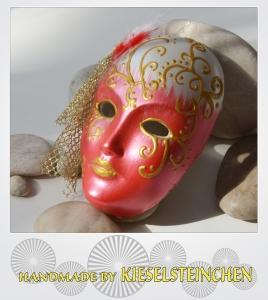 Maske Rot/Perlmut