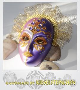 Maske Lila/Rosa Perlmut