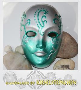 Maske Perlmut/Grün