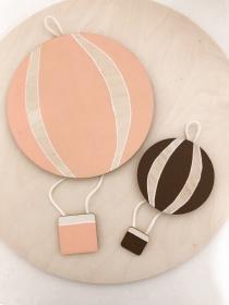Heißluftballon Dekoration in deiner Wunschfarbe 10x20cm oder 20x 40cm (Dekoration, Wanddeko, Kinderzimmer, Babyzimmer, Taufe, Babyparty, personalisierbar)  - Handarbeit kaufen