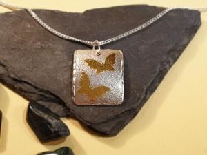 Silberanhänger Schmetterlinge - Handarbeit kaufen