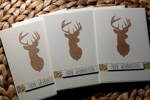 Weihnachtskarten Set (Hirsch kraftpapier)