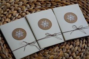 Weihnachtskarten Set (Schneeflocke)