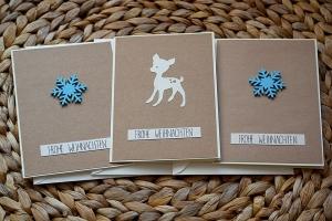 Weihnachtskarten Set handgemacht