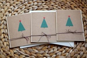 Weihnachtskarten Set (Tannenbaum)