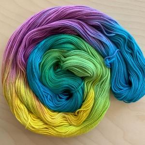 Soft Cotton: Handgefärbte Baumwolle in Oster-/Frühlingsfarben