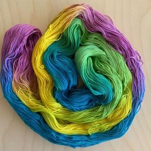 Twisted Cotton: Handgefärbte Dünne Baumwolle in Oster-/Frühlingsfarben
