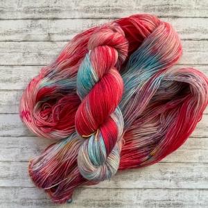 Fröliche Sockenwolle: Handgefärbte Deutsche Sockenwolle