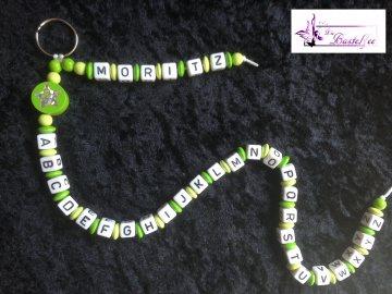 ABC-Kette mit Namen, Schulanfang, Einschulung, Geschenk, Schlüsselanhänger , grün