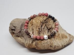 Ein Armband aus Rhodonit & Rhodochrosit, weil du dein Charisma verstärken willst, - Handarbeit kaufen