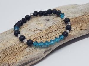Armband aus Lava und Kristall das dich an Urlaub erinnert kaufen. - Handarbeit kaufen