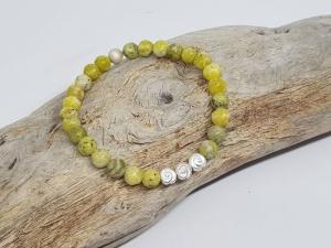 Das Armband aus gelben Türkis strahlt positive Energie aus. - Handarbeit kaufen