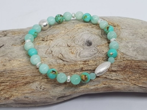 Ein Armband aus Jade & Amazonit um die Dinge gelassener zu sehen. - Handarbeit kaufen