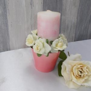 Kerzen Gesteck, Gesteck, Tischgesteck, Kerzen Deko, Blumen, Kerzen,