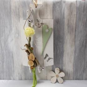 Wanddekoration, Gartendeko, Weiß Grün, Landhausstil, rustikal, Türkranz, Kranz - Handarbeit kaufen