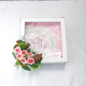 Serviettenhalter weiß Landhausstil Shabby Stil Vintage Stil Serviettenbox, Rosen - Handarbeit kaufen