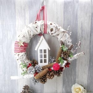 Weihnachtlicher Türkranz, Türschmuck, Weihnachten, Weihnachtsdeko - Handarbeit kaufen