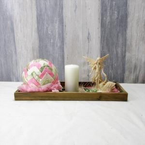 Tischgesteck, länglich mit Elfe, Kerzengesteck, Tischdekoration - Handarbeit kaufen