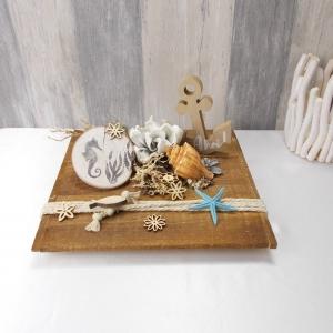 Dekoration maritim, Tischdeko, Anker, Gesteck, Holz - Handarbeit kaufen
