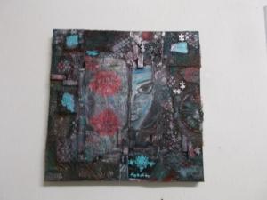 Mixed Media Bild, Wanddekoration, Bild - Handarbeit kaufen