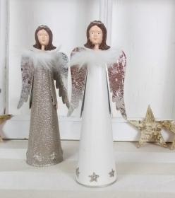 moderner Engel, Metall, Dekofigur, klein, Figur, Weihnachtsdeko, Floristikbedarf - Handarbeit kaufen