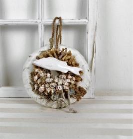 Türkranz mit Muscheln und Keramikfisch - Handarbeit kaufen