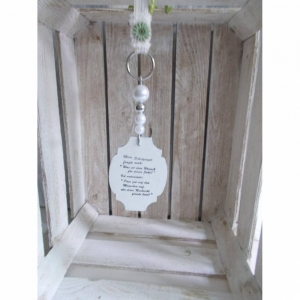Fensterdeko, Hänger mit Spruch-Schild aus Holz, Türkranz - Handarbeit kaufen