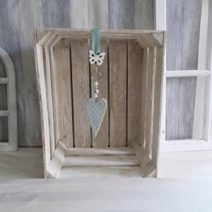 Fensterdeko, Herz in grün, Hänger - Handarbeit kaufen