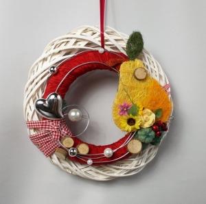 Türkranz, Herbstdeko, mit Birne, Herbstkranz - Handarbeit kaufen