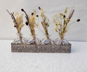 Trockenblumengesteck, in Glasfläschen, Landhaus, Trockenblumen, getrocknete Natur Pflanzen - Handarbeit kaufen