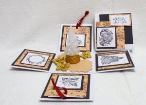 Explosionsbox Weihnachten, Tannenbaum, Pop Up Box Weihnachten, Weihnachtsgeschenk, Geldgeschenk