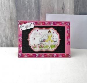 Glückwunschkarte, Geburtstagskarte, Grußkarte, Viel Glück, Din A5, N4, 15 x 21cm - Handarbeit kaufen