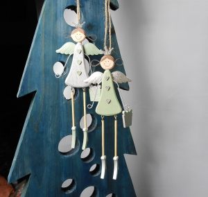 Weihnachtsdeko hängend 2er Set Engel, Fensterdeko, Tannenbaumdeko, Stückpreis 3,90 €  Material - Handarbeit kaufen