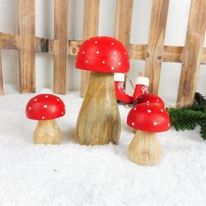 Weihnachtsdeko Pilze 4er Set Fliegenpilze, Stückpreis 2,95 Euro - Handarbeit kaufen