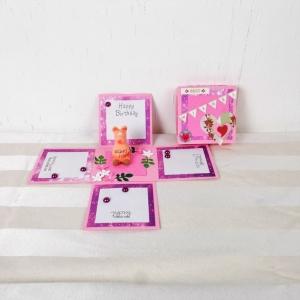 Explosionsbox Geburtstag, Pop up Box, Geburtstagsgeschenk, Glücksschwein - Handarbeit kaufen