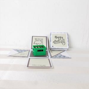 Explosionsbox Geburtstag, Pop up Box, Geburtstagsgeschenk, Bierkasten, Männergeschenk