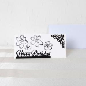 Glückwunschkarte, Grußkarte, Geburtstag, modern, schwarz weiß,