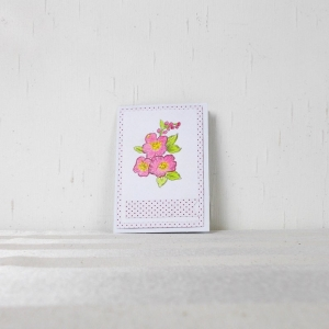 Glückwunschkarte, Grußkarte, Geburtstag, handcoloriert, Blumen