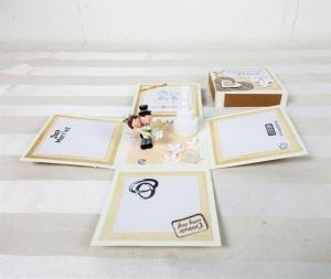 Geldgeschenk Hochzeit, creme weiß, Hochzeitsgeschenk - Handarbeit kaufen