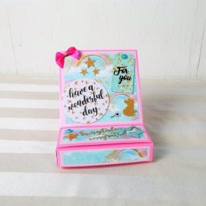 Geldgeschenk Einhorn, Grußkarte, pink, Geschenkbox - Handarbeit kaufen