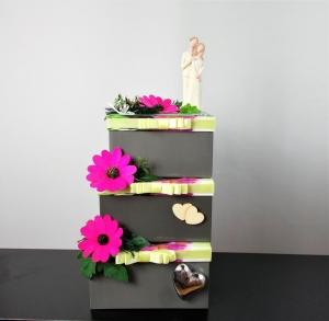 Geldgeschenk Hochzeit, Hochzeitsgeschenk, Hochzeitstorte-Box, modern - Handarbeit kaufen