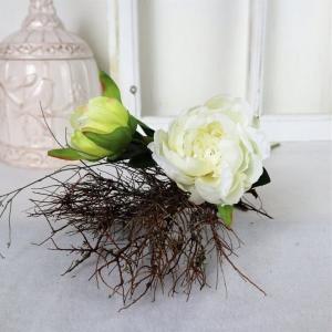 Pfingstrose weiß, Deko Blumen, Floristikbedarf - Handarbeit kaufen