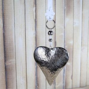 Fensterdeko, Fensterschmuck, Landhausstil, Metallherz - Handarbeit kaufen