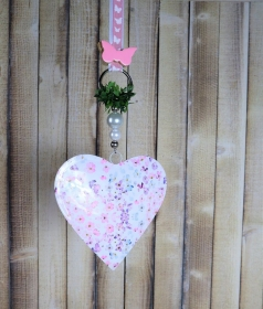 Fensterdeko, Herz romantisch groß, Landhausdeko - Handarbeit kaufen