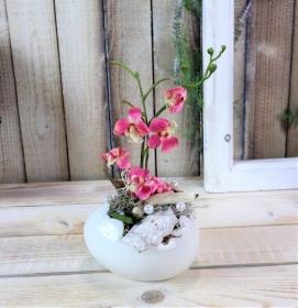 Osterdeko, Tischdeko, Tischgesteck, mit Orchidee, Ostern - Handarbeit kaufen