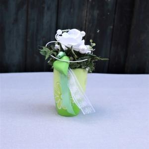 Tischgesteck grün weiß, Tischdeko - Handarbeit kaufen