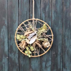 Türkranz, Flower Loop, Hoop, Wandkranz, Trockenblumen - Handarbeit kaufen