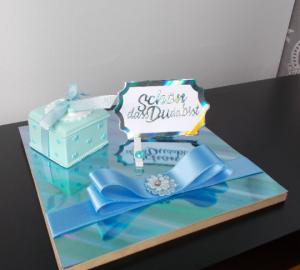 Geldgeschenk Geburt, Taufe, mit Zahndose, für Junge, blau, Geschenk zur Geburt - Handarbeit kaufen