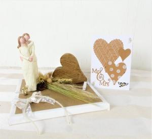 Geldgeschenk Hochzeit, Hochzeitsgeschenk, Glückwunschkarte, mit Holzherz, Nr.3 - Handarbeit kaufen
